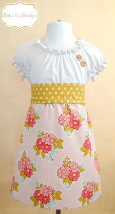 RTS OOAK peasant dress tshirt dress girls by 3cutiepiesbowtique, $40.00