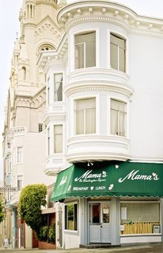 Oh,Mama's... how I miss you...and DEF worth the queue...(and the cold morning fog...everything about the experience is delicious...Mama's on Washington Square - My favorite place for breakfast, there's ALWAYS a line, but so worth the wait!  ~ C
