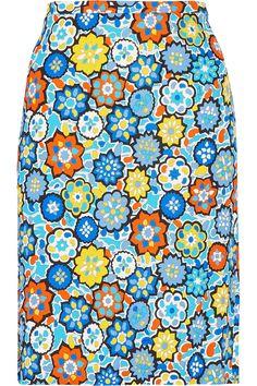 EMILIO PUCCI Printed Stretch-Jersey Skirt. #emiliopucci #cloth #skirt