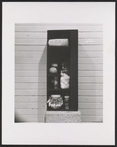 Citation: Hassel Smith's sculpture Adventures in food, ca. 1955 / unidentified photographer. Hassel Smith papers, Archives of American Art, Smithsonian Institution.
