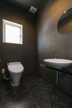 トイレ(デザインにこだわったシンプルモダン住宅) - バス/トイレ事例 SUVACO(スバコ) Guest Toilet, Toilet Room, Room Goals, House Elevation, Bathroom Interior, My Room, Powder Rooms, Architecture, Home Decor