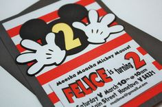 CUSTOM Listing for JennyA MICKEY Mouse Inspired by PaperMeUp