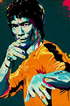 bruce lee giclee art print - a3 portrait