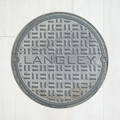 Look what I found at UncommonGoods: personalized manhole cover doormat... for $38 #uncommongoods