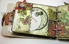 With A Grin.com by Stephanie: Bo Bunny Canvas Mini (BM DT Project) & Secret Santa Giveaway (photo heavy)