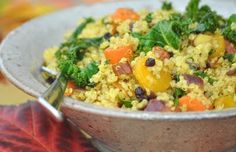 Love the Moroccan takes on Quinoa, and especially enjoying the Kale addition.