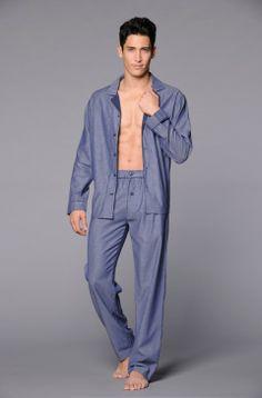 MISTER Business HOM - Pyjama long Homewear pour hommes