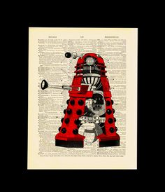 Doctor Who Dalek Art Print by MadameBricolagePrint