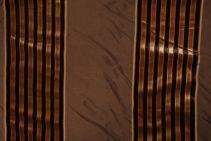 4.8 Yards Robert Allen Beacon Hill  Velvet Lane Silk & Velvet Stripe Decorator Fabric in Bark
