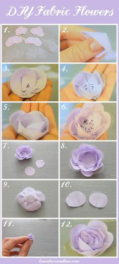 DIY fabric flowers DIY Flowers DIY Crafts