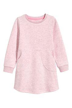 Платье-свитшот - Светло-розовый меланж - Дети | H&M RU 2