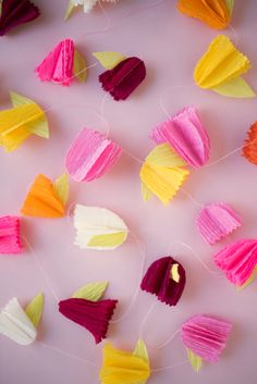 This DIY paper flower garland is fun to make and always a cute addition to the decorations.