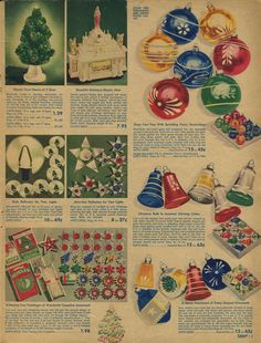 Holiday merchandise from the 1942 Spiegel Christmas catalog