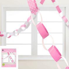 4 Metres Pink Polka Dot Garland Chains