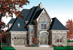 Victorian House Plan chp-22140 at COOLhouseplans.com
