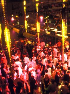 Dance floor at Studio 54 -Oh how I'd love to be in the middle of that mess lol