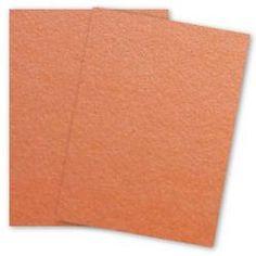 Curious Metallic - MANDARIN Paper - 80lb Text - 8.5 x 11 - 50 PK - PAPER-PAPERS.COM