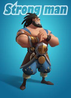 Strongman - By Chao Teng Zhao ____________________________________________ … Zbrush Character, 3d Model Character, Character Poses, Character Modeling, Character Creation, Character Concept, Character Art, Character Design Girl, Character Design Animation