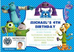 Monsters University Invitation II  Monsters by ColorfulPaperPrints, $10.00