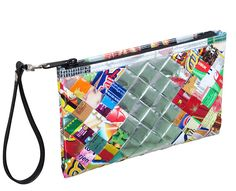 Medium zip wristlet candy wrappers FREE SHIPPING clutch