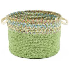 """Wildon Home  Breianna  Banded Basket Size: 8"""" H x 10"""" W x 10"""" D, Color: Lime"""