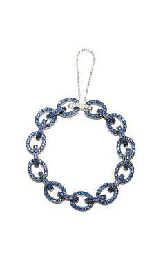 Blue Link Bracelet by Nam Cho for Preorder on Moda Operandi