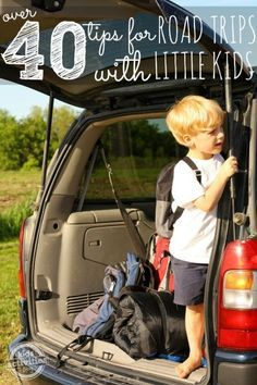 over 40 tips for road trips with little kids. The best list yet! Frugal Summer Activities, Summer Kids Activities #summer