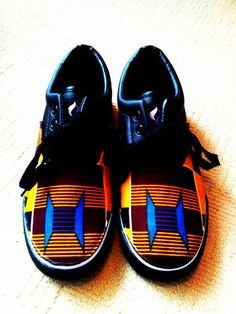 African print - Kente shoes..if feel that this print is going to get used and abused