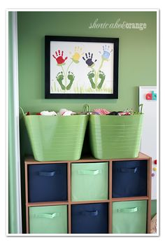 I like some of these ideas for the basement playroom...