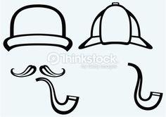Vector Art : Sherlock Holmes. Icon Detective