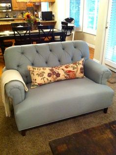 Custom love seat and pillow