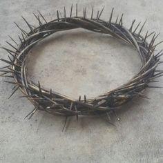Crown Of Thorns - Handmade Crown Of Thorns - Religious Decor - Christian Decor - Spiritial Decor - Christening Decorations - Wedding Decor by MyHailiesHaven on Etsy