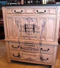 Thrift Store Decor Junky: French Label Dresser