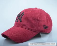 New Era New York Yankees Baseball Cap Mens Womens Fall/winter Fashion cap Travel Hat Wine