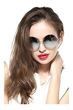 aaac02e4576 GEELOOK Oversized Round Circle Mirrored Hippie Hipster Sunglasses - Metal  Frame (Black Matte Frame   Black Lens