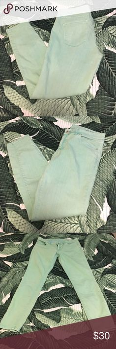 BLANKNyc weathered mint jeans Great pair of skinny jeans with a beautiful broken in look. No stains or holes, EUC. Blank Denim Jeans Skinny
