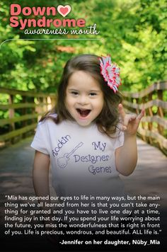 Mia; Peace, Love & Down Syndrome @Evelyn Spencer Down Syndrome Society
