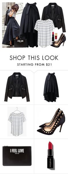 """""""Untitled #2862"""" by fashion-nova ❤ liked on Polyvore featuring Zizzi, Chicwish, Madewell, Gianvito Rossi, Givenchy, Smashbox and Yves Saint Laurent"""