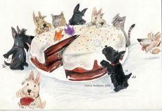 Собаки И Щенки, Собачки, Холли Хобби, Картины Животных, Собачье Искусство, Старые Плакаты, Шотландские Терьеры, Домашние Питомцы
