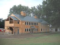 Geobarns, barn builder, specializes in artistic barns, using a modified post and beam structure to achieve a combination of strength, versatility and beauty at reasonable prices. Barn Builders, Beam Structure, Post And Beam, Modern Barn, Massachusetts, Barns, Commercial, Cabin, Elegant