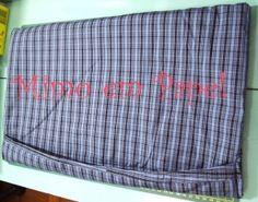 Capa para notebook em tecido e fechamento estilo fronha ^_^
