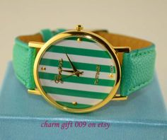Stripe leisure fashion watch by Charmgift009 on Etsy, $6.99