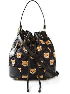 b2610e9dfc9 Bolso con osos Ted Bear, Black Leather Handbags, Leather Purses, Bear Shop,