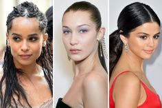 See our 19 favorite celebrity hair looks to copy for prom, from Zendaya's low ponytail to Lucy Hale's floral updo. Sleek Hairstyles, Celebrity Hairstyles, Gorgeous Hairstyles, Bombshell Curls, Old Hollywood Waves, Beauty Book, Damp Hair Styles, Loose Curls, Natural Curls