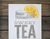 Sweet Tea Letterpress Poster by Whitney Stephenson, via Behance