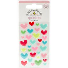 Doodlebug Design - Adhesive Sprinkles Candy Hearts www.papercrafts.ch
