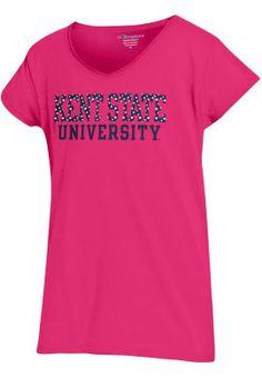 Product: Kent State University Girls V-Neck T-Shirt