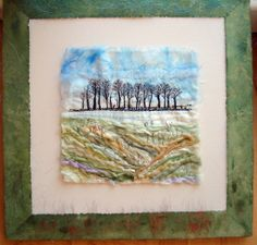 embroidery - Winter Trees