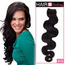 """Natural Black(#1B) Body Wave 10""""-30"""" 100g Indian Remy Hair Wefts $44.99"""
