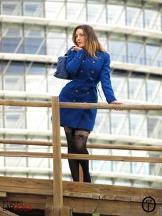 Blue Klein Coat | One Use Fashion